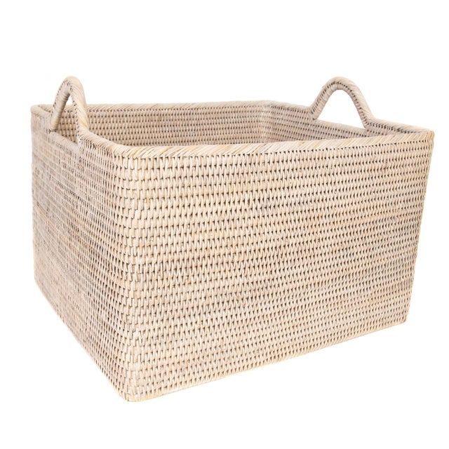 Artifacts Rattan Basket With Hoop Handles For Sale In Dallas - Image 6 of 6