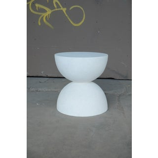 Cast Resin 'Bilbouquet' Side Table, White Stone Finish by Zachary A. Design Preview