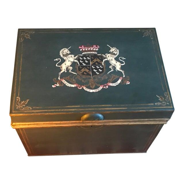 Large English Metal Strong Box - Image 1 of 11