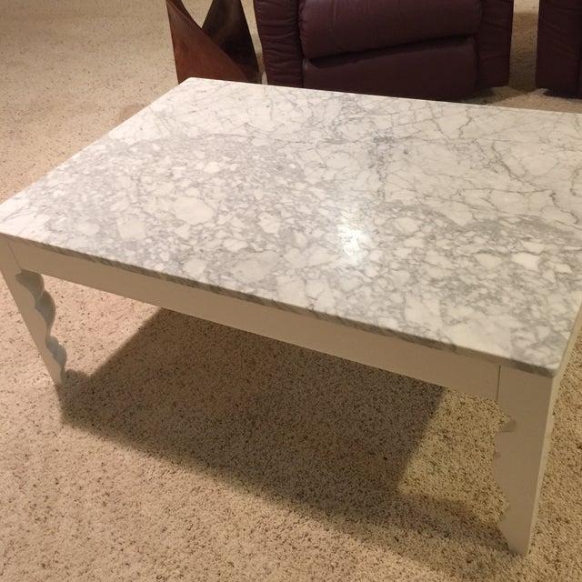 Arhaus Marble Coffee Table - Image 5 of 5