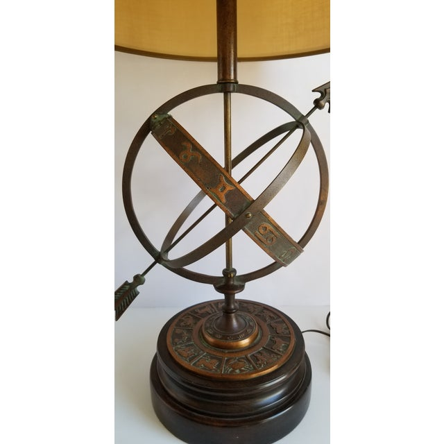Frederick Cooper Mid Century Frederick Cooper Astrological Armillary Table Lamp For Sale - Image 4 of 8