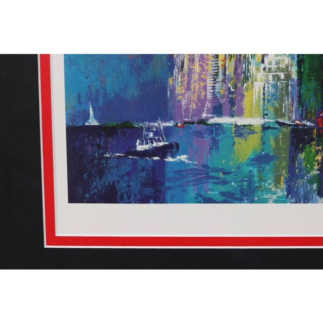 1990s 1995 Brooklyn Bridge Lithograph Ltd Ed Signed by American Artist LeRoy Neiman For Sale - Image 5 of 11