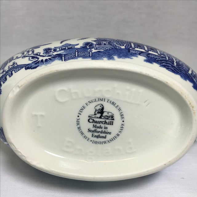 Blue Willow Gravy Boat - Image 4 of 4