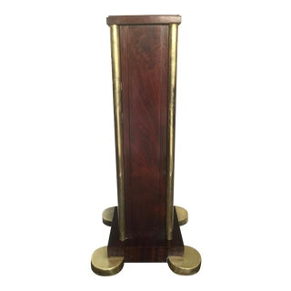 Art Deco Rosewood and Brass Pedestal For Sale