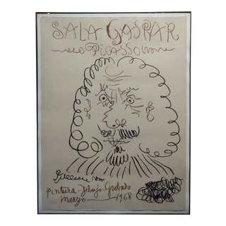 Pablo Picasso Sala Gaspar 1968 Vintage Lithograph For Sale