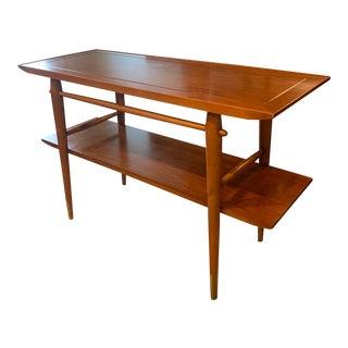 1950s Danish Modern Sofa Table For Sale