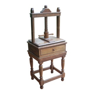 Victorian Bookbinders Press For Sale