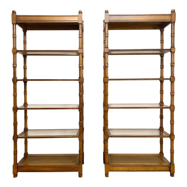 1950s Mid Century Modern Etageres Bookcases - a Pair For Sale