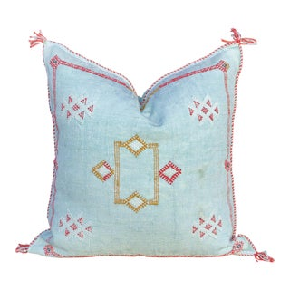 Jovin Moroccan Silk Rug Pillow For Sale
