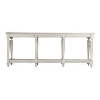 Clover Console Table in Ivory For Sale