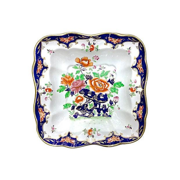 Antique Porcelain Chinoiserie Floral Dish - Image 5 of 5
