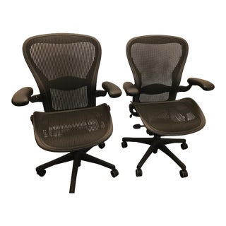 Herman Miller Aeron Chairs - A Pair For Sale
