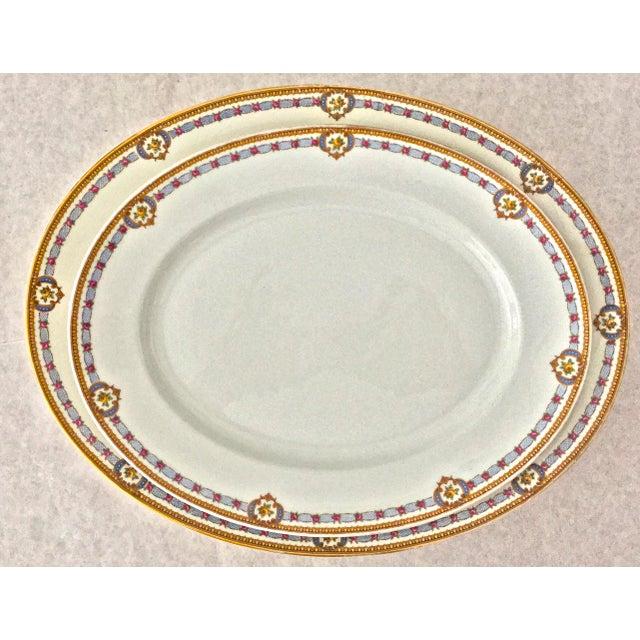 White 1930s Vintage Limoges Bernardaud Serving Platters - A Pair For Sale - Image 8 of 8