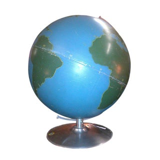 Vintage School Globe by Nystrom For Sale
