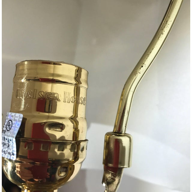 Gold Cast Brass Tall Buffet Lamps - a Pair For Sale - Image 8 of 10