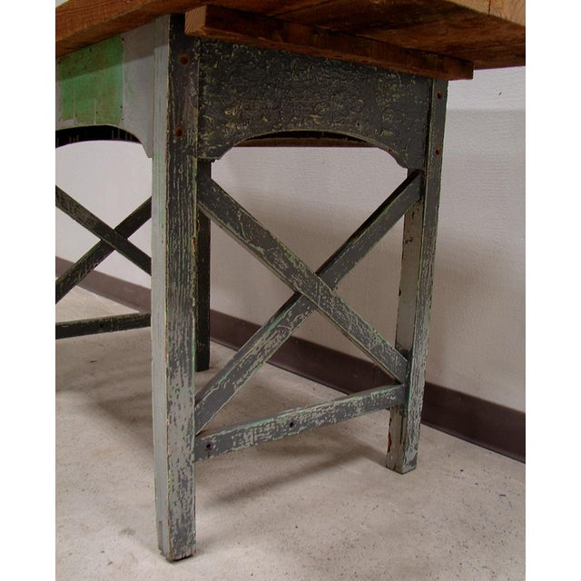Reclaimed Heart Pine Small Harvest Table or Desk - Image 4 of 4