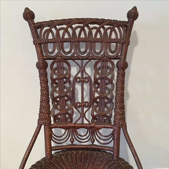Heywood-Wakefield Victorian Wicker Chair - Image 6 of 11