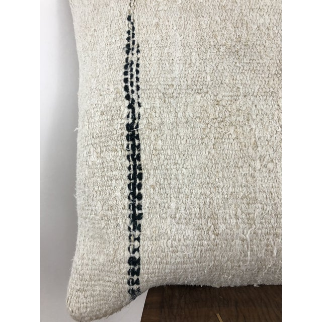Canvas 1960s Boho Chic Hemp Pillow For Sale - Image 7 of 8
