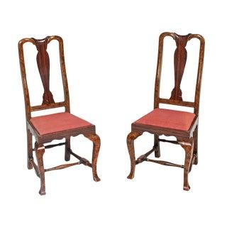 19th Century Italian Faux Bois Side Chairs - A Pair