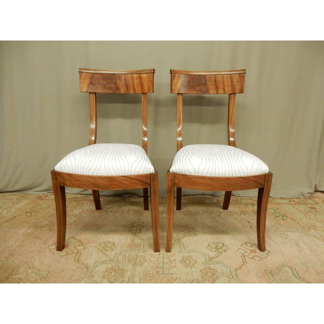 Pair of Neo-Classical Empire Side Chairs For Sale In New Orleans - Image 6 of 6