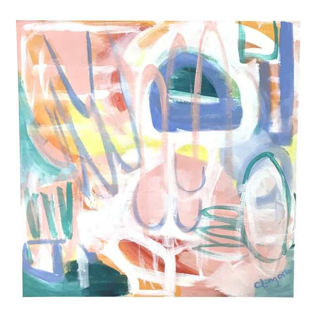 """Christina Longoria Abstract """"Fiesta 2"""" Painting For Sale"""