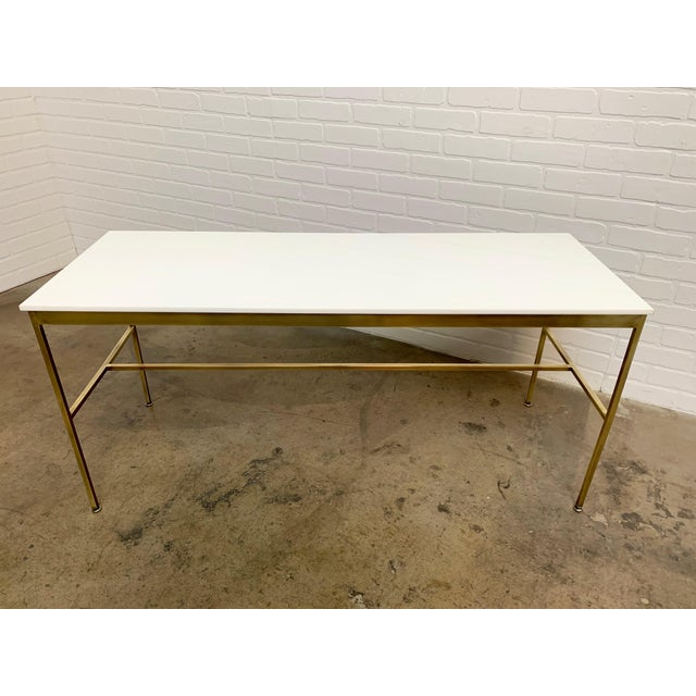 Mid 20th Century Brass and Vitrolite Console Table by Paul McCobb For Sale - Image 5 of 13