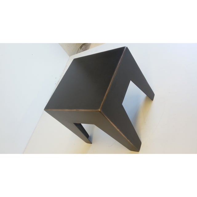 Metal & Bronze Milking Stool For Sale - Image 5 of 5