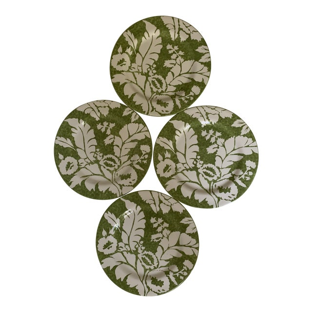 Roscher Ambiance Collection Green Dinner Plates - Set of 4 For Sale
