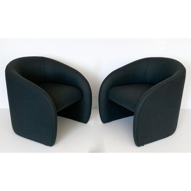 Pair of Directional Fully Upholstered Barrel Lounge Chairs For Sale - Image 12 of 13