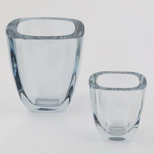 Transparent 1950's VINTAGE STROMBERGSHYTTAN GLASS VASE For Sale - Image 8 of 8