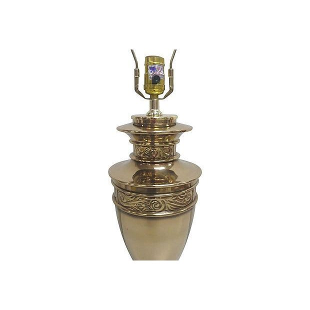 Paul Hanson Chinoiserie Brass Lamp - Image 4 of 4