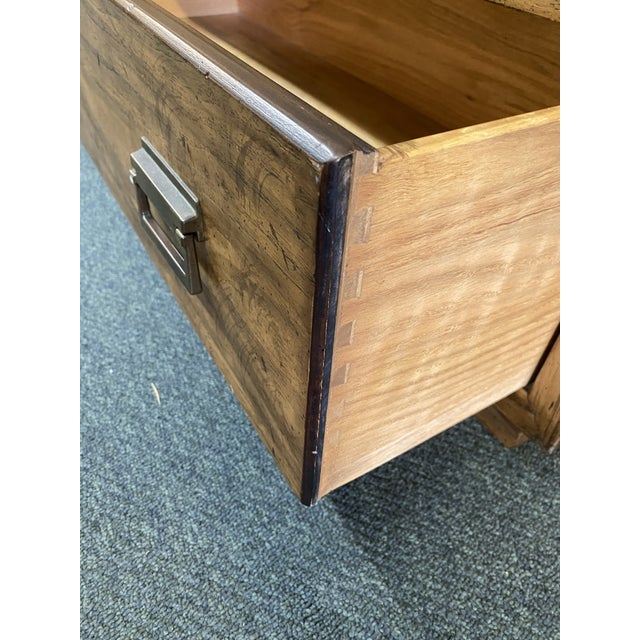 Brown 1970's Drexel Heritage Woodbriar Collection Campaign Chest For Sale - Image 8 of 12