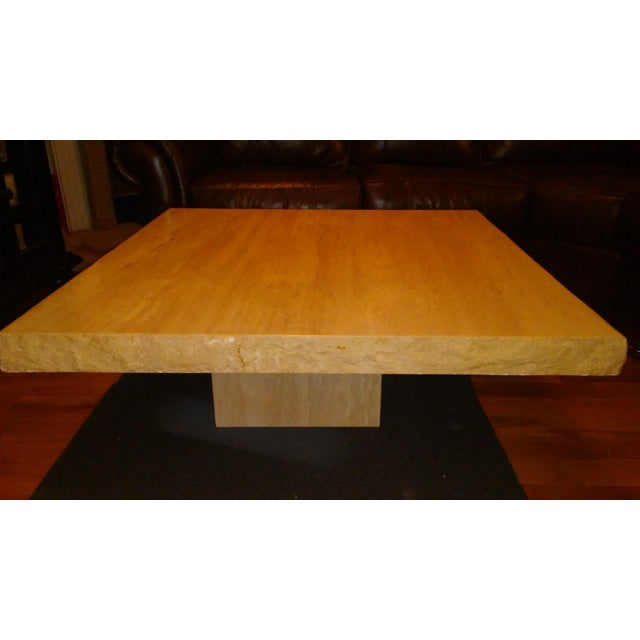 Italian Travertine Coffee Table - Image 4 of 4