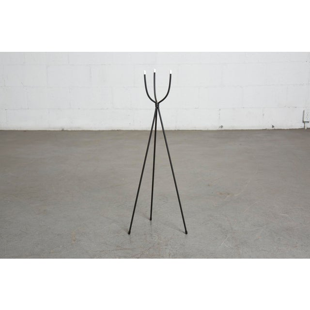 "Vintage inspired, new made, delicate wire tripod stand. For a small 3.75"" pot. Amsterdam Modern / USA"