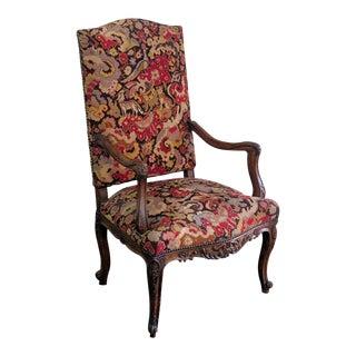 Mid Century Louis XVI Style Fauteuil For Sale