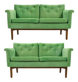 Image of Green Loveseats