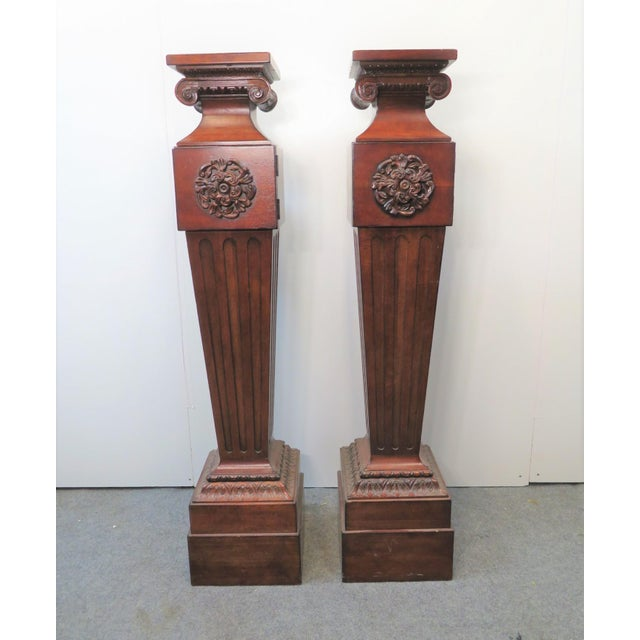 Century Furniture Neoclassical style Pedestals, Oscar de la Renta Collection. solid cherry , carved capitals, plinth base,...