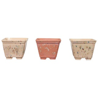 1980s Vintage Ceramic Planters - Set of 3 For Sale
