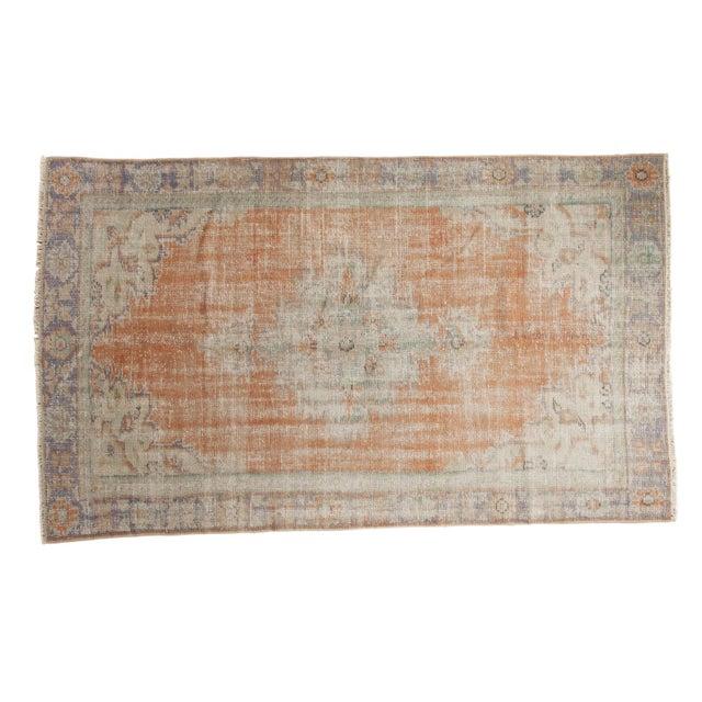 "Vintage Distressed Oushak Carpet - 5'2"" x 8'8"" For Sale - Image 11 of 11"