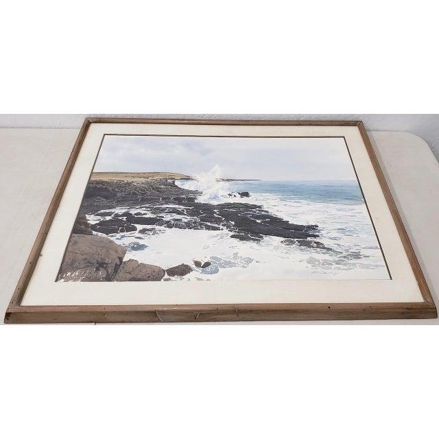 Merv Corning (1926-2006) Rocky Coastal Landscape Watercolor For Sale - Image 4 of 9