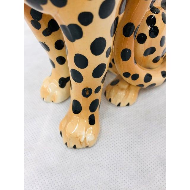 Ceramic 1970s Ceramic Cheetah Figurine For Sale - Image 7 of 9