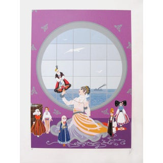 """Erté, """"Les Poupees Russes"""", Art Deco Screenprint For Sale"""