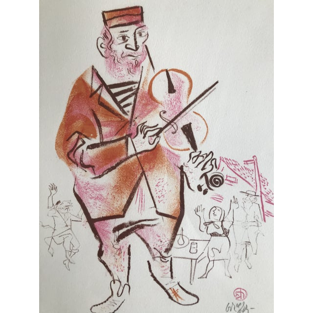 William Gropper William Gropper Lithograph Man Playing Violin For Sale - Image 4 of 5