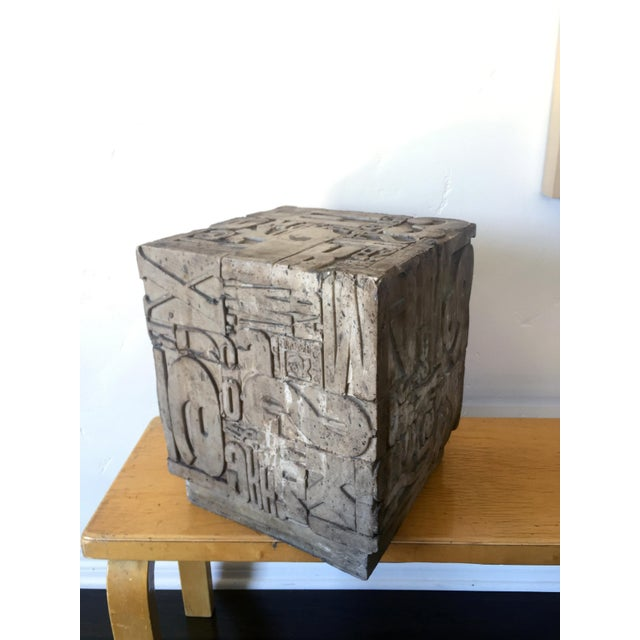 1960s Sherman Rose Resin Cube Sculpture For Sale - Image 5 of 9