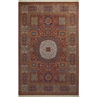 5acaa743ec74 Southwestern Mamluk Celestin Ivory Blue Wool Rug - 8 0 X 9 10