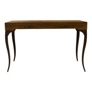 Melagne Cabriole Leg Two Drawer Console Table For Sale