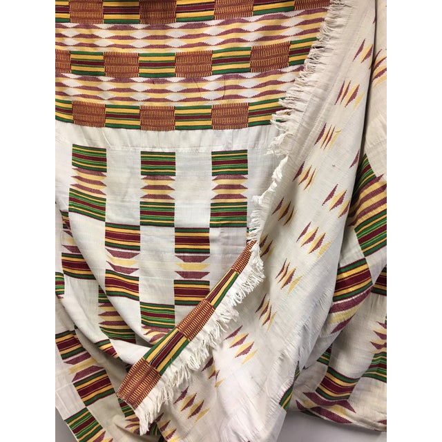 """African Tribal Vintage Textile Throw - 41"""" x 79"""" - Image 9 of 11"""