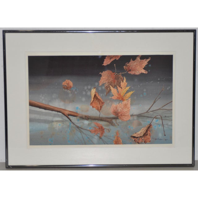 """Will Maller (20th C.) """"Spring Wake-Up"""" Original Watercolor C.1987 For Sale - Image 9 of 9"""
