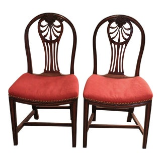 George III Mahogany Side Chairs - A Pair For Sale