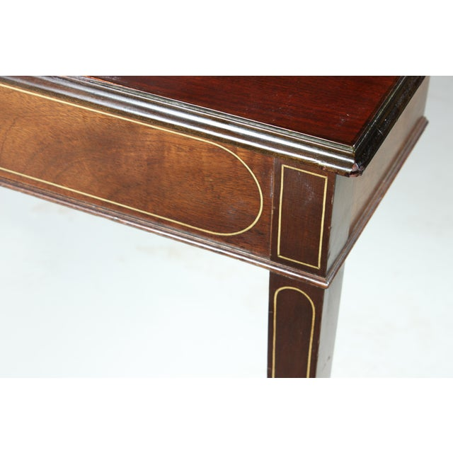 Mahogany Mahogany Drop Leaf Dining Table For Sale - Image 7 of 8